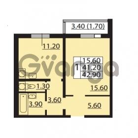 Продается квартира 1-ком 41.2 м² Южное шоссе 110, метро Международная