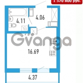 Продается квартира 1-ком 26.18 м² Петровский бульвар 5, метро Девяткино