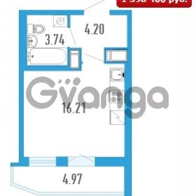 Продается квартира 1-ком 26.64 м² Петровский бульвар 5, метро Девяткино
