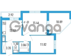 Продается квартира 2-ком 55.07 м² Петровский бульвар 5, метро Девяткино