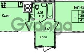 Продается квартира 1-ком 41.8 м² Приреченская улица 1, метро Рыбацкое