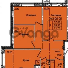 Продается квартира 3-ком 71.7 м² Приреченская улица 1, метро Рыбацкое