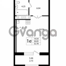 Продается квартира 1-ком 32.78 м² Ушаковская набережная 3, метро Черная речка