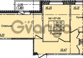 Продается квартира 2-ком 62.34 м² Приреченская улица 1, метро Рыбацкое