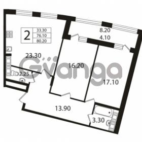 Продается квартира 2-ком 76.1 м² Ушаковская набережная 3, метро Черная речка