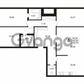 Продается квартира 3-ком 142.26 м² Ушаковская набережная 3, метро Черная речка
