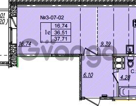 Продается квартира 1-ком 37.71 м² Приреченская улица 1, метро Рыбацкое