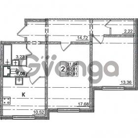 Продается квартира 2-ком 62.81 м² Дунайский проспект 14, метро Звездная