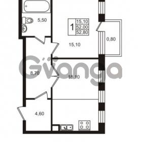 Продается квартира 1-ком 52 м² Приморский проспект 44, метро Старая деревня