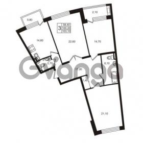 Продается квартира 3-ком 100.2 м² Приморский проспект 44, метро Старая деревня