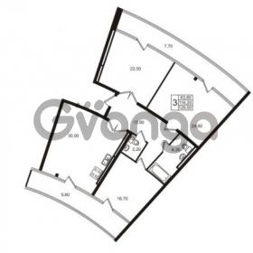 Продается квартира 3-ком 116.2 м² Приморский проспект 44, метро Старая деревня