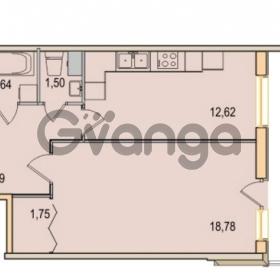 Продается квартира 1-ком 43.78 м² Малый проспект В.О. 52, метро Василеостровская