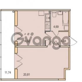 Продается квартира 1-ком 43.86 м² Малый проспект В.О. 52, метро Василеостровская