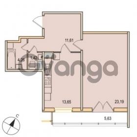 Продается квартира 1-ком 54.13 м² Малый проспект В.О. 52, метро Василеостровская