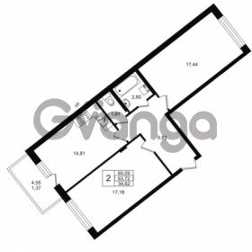 Продается квартира 2-ком 63.72 м² Приозерское шоссе 1, метро Парнас