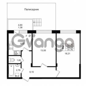 Продается квартира 2-ком 53.32 м² Приозерское шоссе 1, метро Парнас