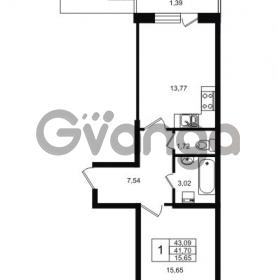 Продается квартира 1-ком 41.7 м² Приозерское шоссе 1, метро Парнас