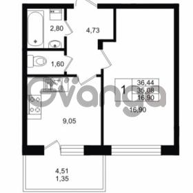 Продается квартира 1-ком 35.08 м² Приозерское шоссе 1, метро Парнас
