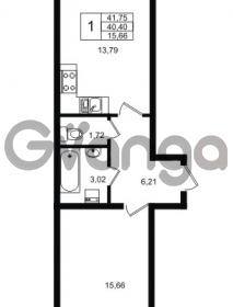 Продается квартира 1-ком 40.4 м² Приозерское шоссе 1, метро Парнас