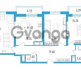 Продается квартира 3-ком 105.94 м² проспект Тореза 118, метро Озерки