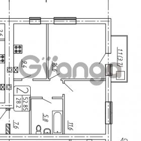Продается квартира 2-ком 55 м² Гагарина, 1а