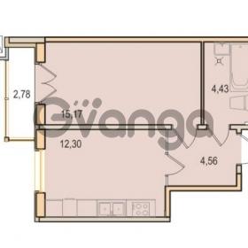 Продается квартира 1-ком 36.46 м² Малый проспект В.О. 52, метро Василеостровская