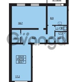 Продается квартира 2-ком 62.8 м² Муринская дорога 7, метро Гражданский проспект