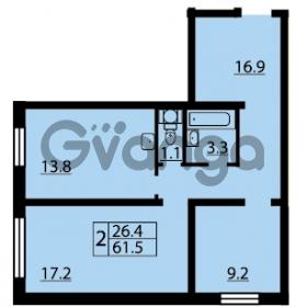 Продается квартира 2-ком 61.5 м² Муринская дорога 7, метро Гражданский проспект