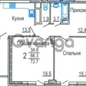 Продается квартира 2-ком 73 м² Дальняя улица, 148