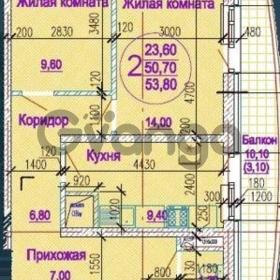 Продается квартира 2-ком 53.8 м² улица Обрывная, д. 22/1