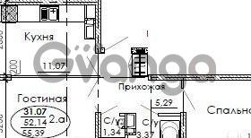 Продается квартира 2-ком 55 м² Российская, 10