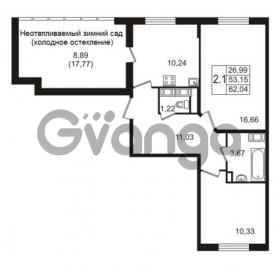Продается квартира 2-ком 53.15 м² улица Пионерстроя 27, метро Проспект Ветеранов