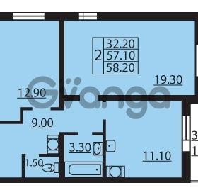 Продается квартира 2-ком 57.1 м² Муринская дорога 7, метро Гражданский проспект
