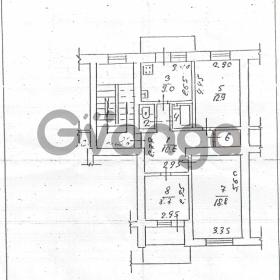 Продается квартира 3-ком 70 м² Красных Партизан улица, 72