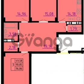 Продается квартира 3-ком 97 м² Автолюбителей, 12