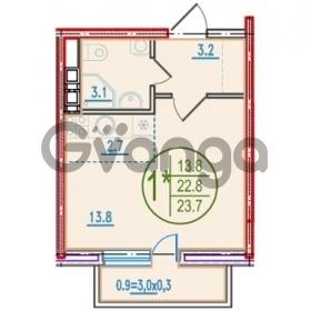 Продается квартира 1-ком 24 м² Ближний Западный Обход, 42