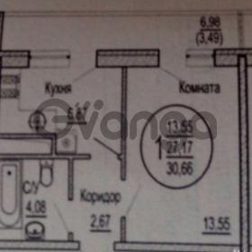 Продается квартира 1-ком 30.7 м² улица Красных Партизан, 1/3лит6