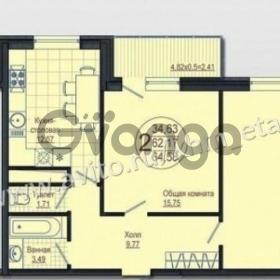 Продается квартира 2-ком 65 м² улица Леонида Лаврова, 8к2