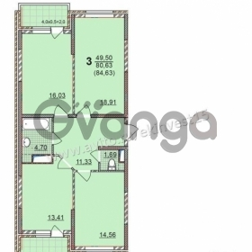 Продается квартира 3-ком 84 м² Шоссе Нефтяников, 40