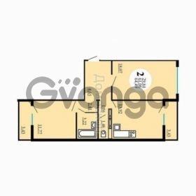Продается квартира 2-ком 65 м² Черкасская улица, 138