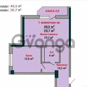 Продается квартира 1-ком 49 м² проспект Константина Образцова, 2