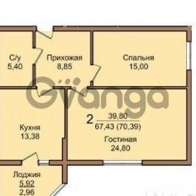 Продается квартира 2-ком 70.4 м² Березанская улица, 88