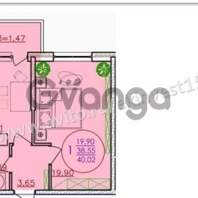 Продается квартира 1-ком 40 м² Кореновская улица, 57