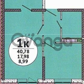 Продается квартира 1-ком 41 м² улица Красных Партизан, 1/3лит7