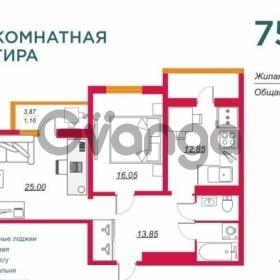 Продается квартира 2-ком 75.7 м² улица Тургенева, 138/6