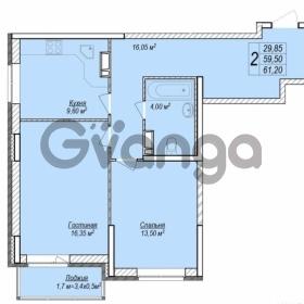 Продается квартира 2-ком 61.2 м² улица Героя Яцкова, 2