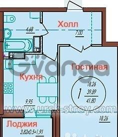 Продается квартира 1-ком 42 м² улица Автолюбителей, 52лит4