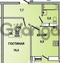 Продается квартира 1-ком 40 м² Восточно-Кругликовская улица, 30