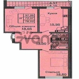 Продается квартира 2-ком 76 м² Дальняя, 5