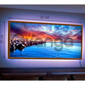 Картина с подсветкой в рамке